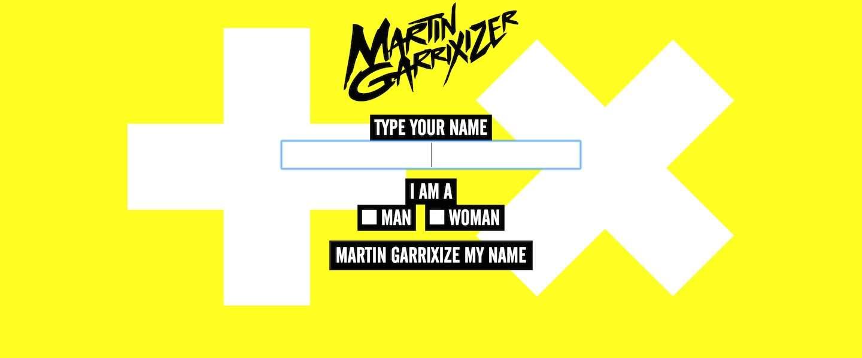 Maak je eigen dj-naam met de Martin Garrixizer