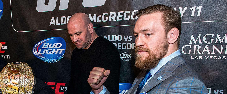 UFC collega's voorspellen overwinning van McGregor op Mayweather
