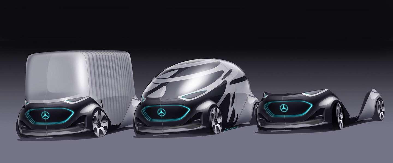 Mercedes-Benz laat modulair zelfrijdend autoconcept zien