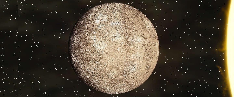 Schattige faal: Ruimtesonde kiekt Mercurius met 'vinger' op lens