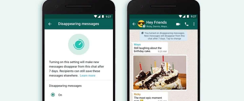 Je bericht laten verdwijnen op WhatsApp? Binnenkort kan het
