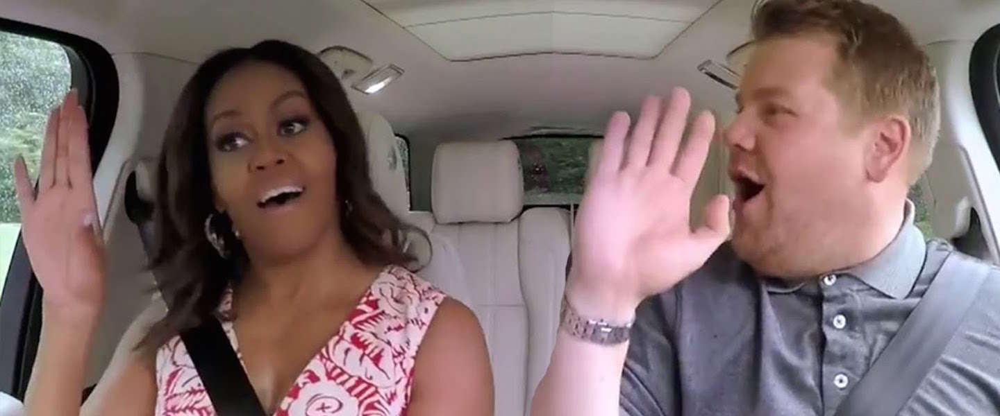 Geweldige Carpool Karaoke met Michelle Obama