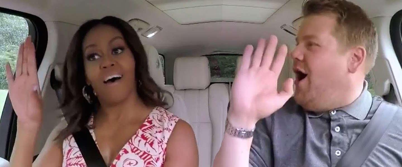 Geweldige Carpool Karaoke met Michelle Obama