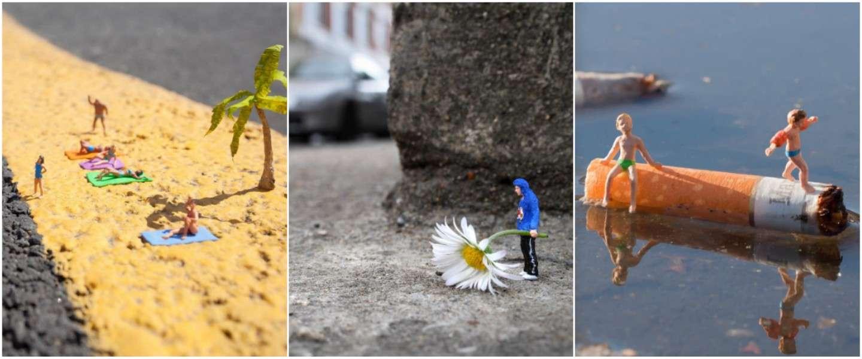 Miniatuur poppetjes brengen de straten tot leven