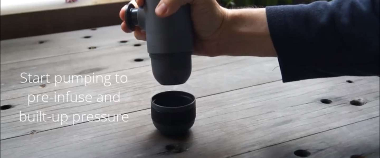 Met de Minipresso maak je zelf je Espresso on the go