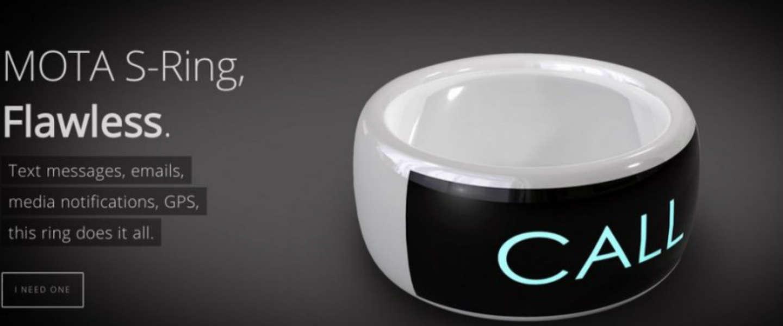 Smartphone alerts ontvangen om je vinger met de Mota Smart Ring