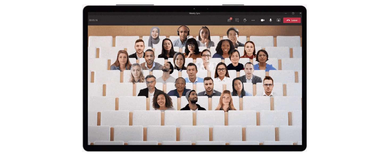 Together Mode moet je videomeetings op MS Teams draaglijker maken