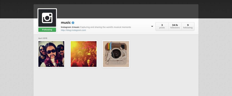 Intstagram komt met officieel muziek-account