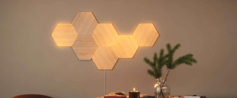 Nanoleaf-lampen lijken nu op lichtgevend hout