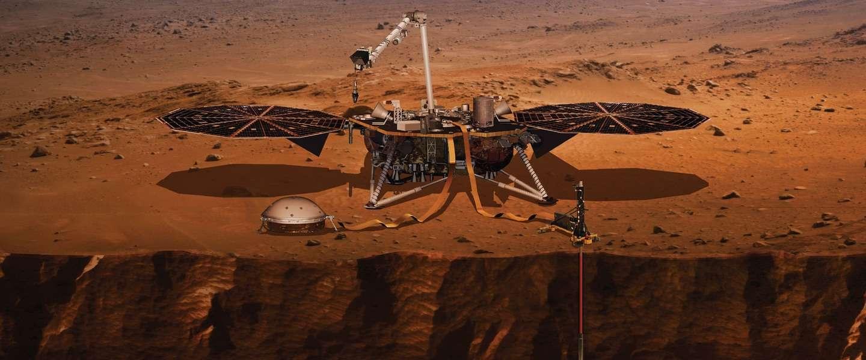 NASA gaat diep graven op Mars met nieuwe robotlander