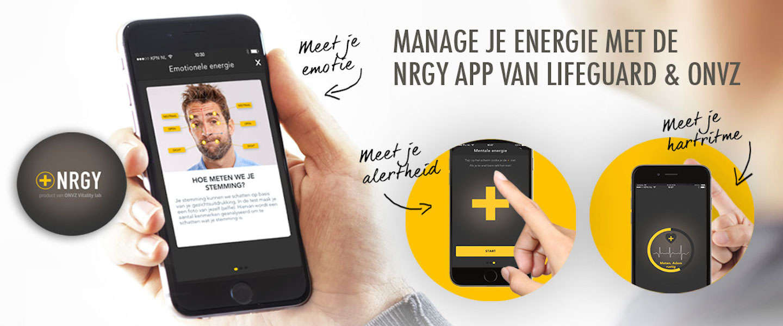 Meet je energieniveau met de app NRGY!
