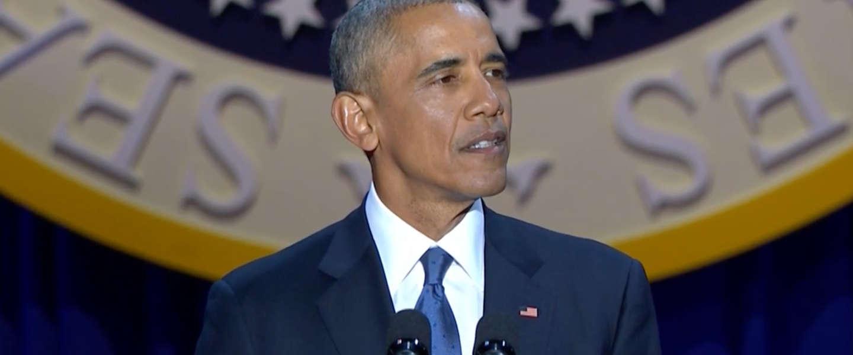 Obama's emotionele afscheid hakt er in, ook op social media