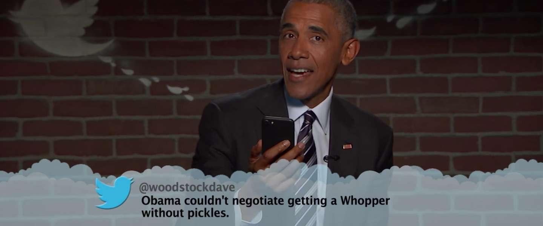 Video: Mean Tweets met president Obama