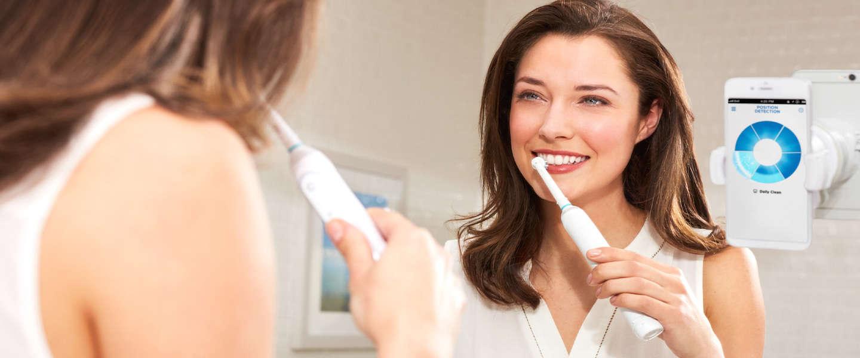 Tandenborstel met app die je vertelt of je wel goed poetst