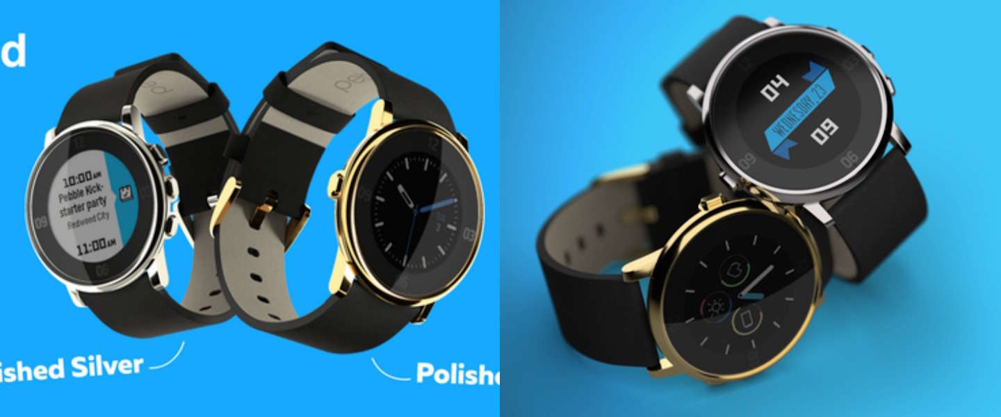 Pebble komt met Limited Edition Pebble Time Round