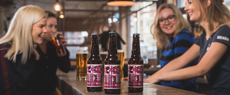 Pink IPA van BrewDog,  een biertje dat goedkoper is voor vrouwen
