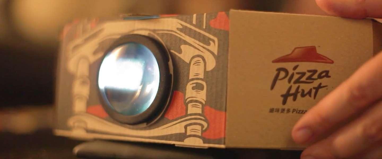 Pizza Hut komt met pizzadoos die je kunt ombouwen tot projector!