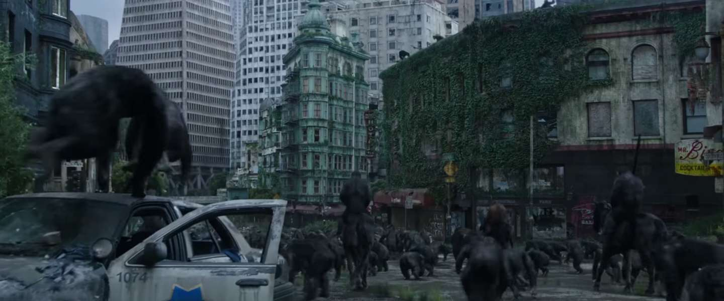 Laatste trailer voor 'Dawn of the Planet of the Apes': It's war!