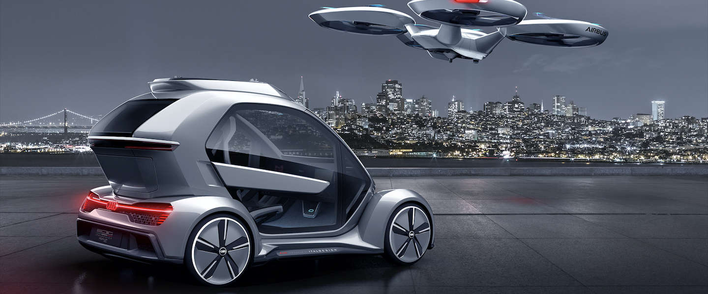Pop Up Next transporter concept: Audi stopt met auto's want we gaan vliegen