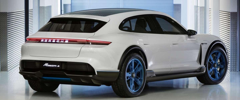 Porsche's Mission E Cross Turismo: Crossover wagon met X-factor