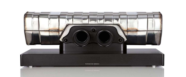 Must have: De uitlaat van een Porsche 911 GT3 als Soundbar!