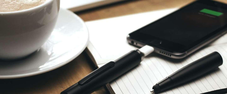Hebben! Pen met ingebouwde smartphone batterij
