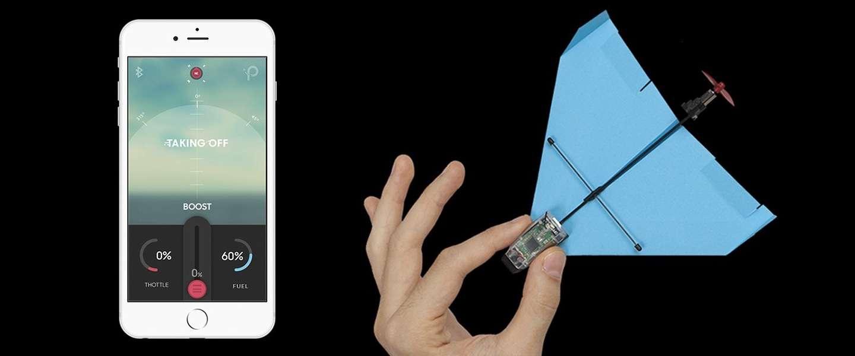 App-gestuurde papieren vliegtuig met trucjes is hit op Kickstarter