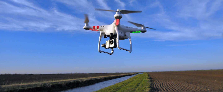 Racen met 60 km/u met een drone