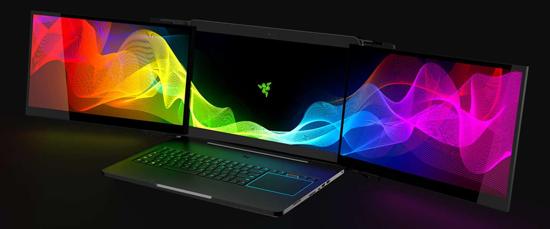 CES 2017: Razer's knotsgekke laptop met drie uitklapschermen