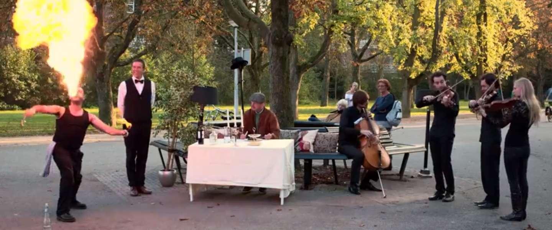 Mooie actie van Oxfam Novib: Diner in het (vondel)park