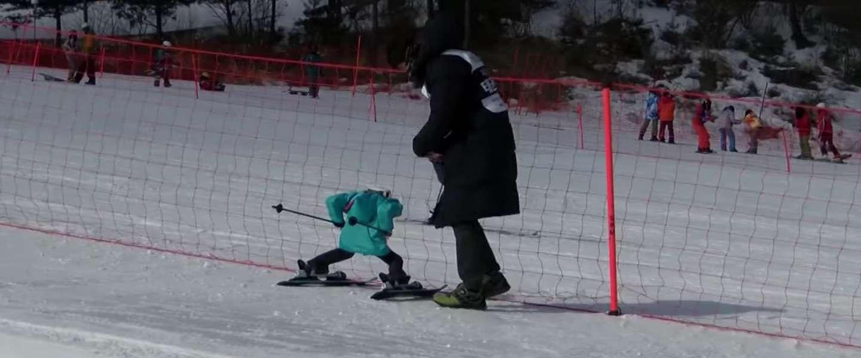 Vallende skirobots op de Robotspelen in PyeongChang zijn briljant