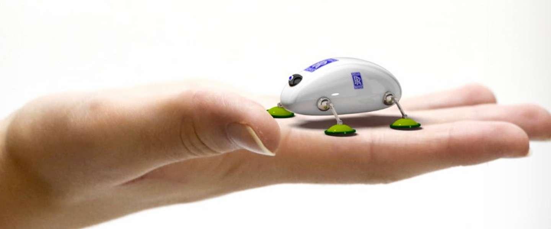 Rolls-Royce ontwerpt mini-robots om straalmotoren live te checken