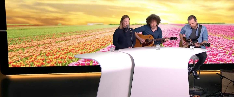 RTL viert de lente met een miniconcert Anouk tijdens het weer