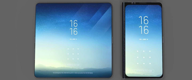 We gaan de opvouwbare telefoon van Samsung in november zien