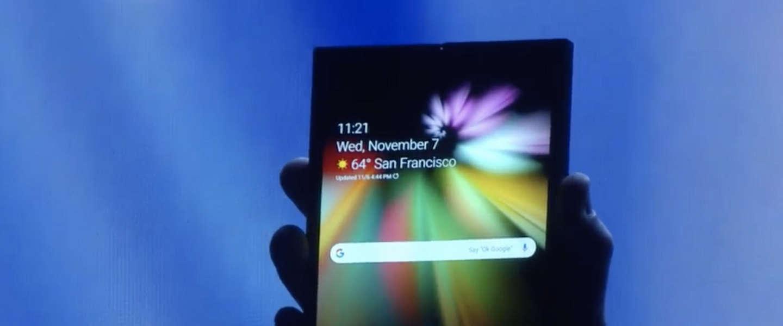 Samsung Infinity Flex Display: smartphone met een opvouwbaar scherm