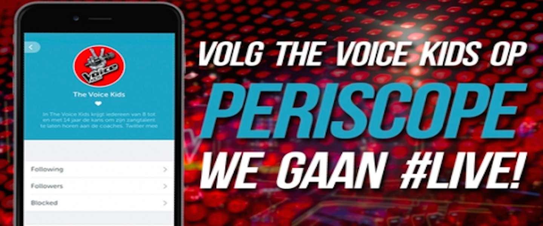 The Voice Kids finale te zien via Periscope