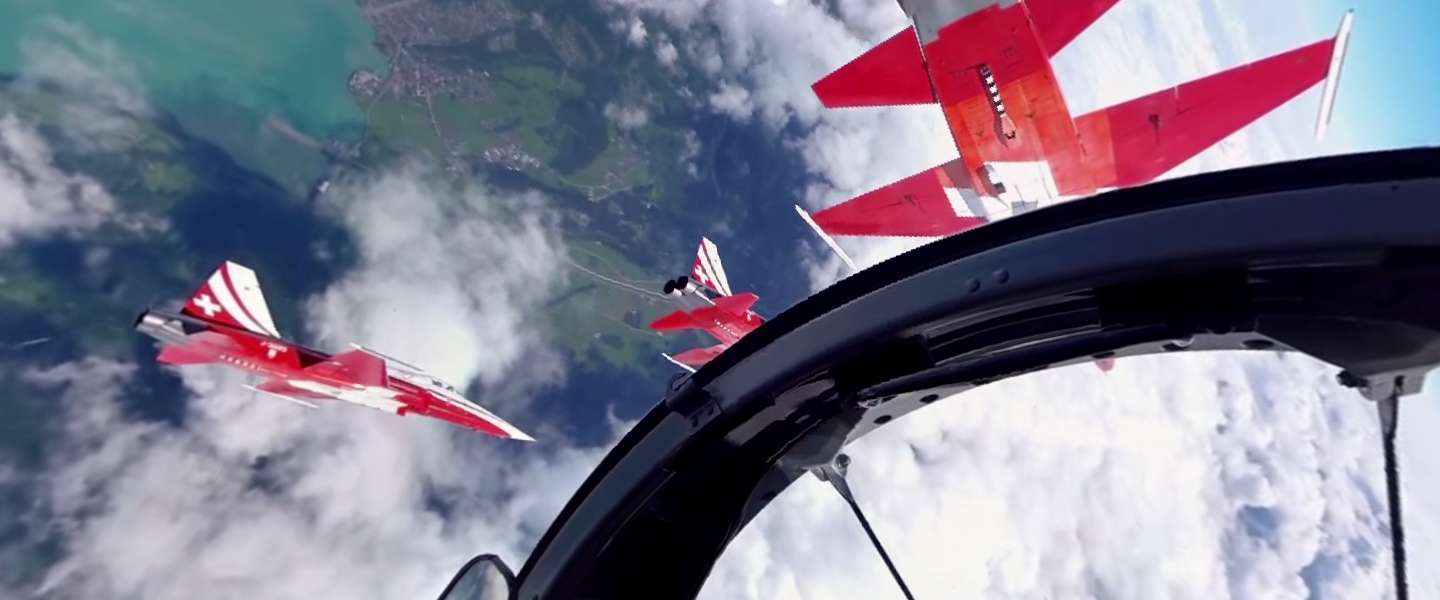 Video: 360° Experience in een Fighter Jet van Patrouille Suisse