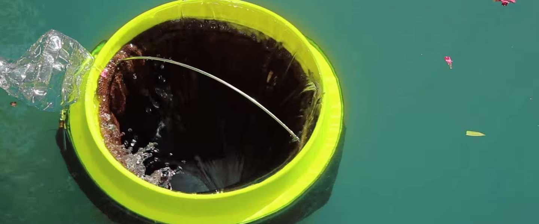 De Seabin zee-prullenbak vangt steeds meer rotzooi op