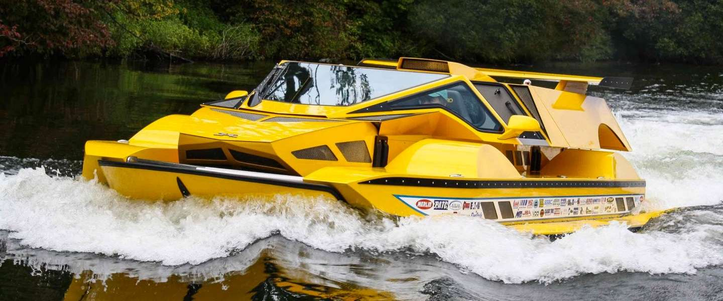 Dobbertin Hydrocar: de million dollar boot/auto met 762 PK