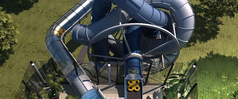 Slidewheel: tof concept van een glijbaan en achtbaan in één