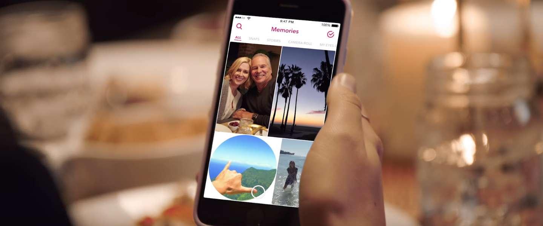 Snapchat Memories: bewaarfunctie voor eigen foto's en video's