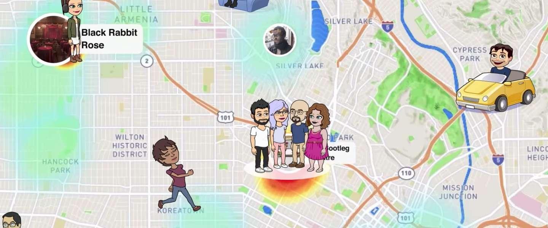 Snapchat onduidelijk over delen locatie bij gebruik van Snap Map