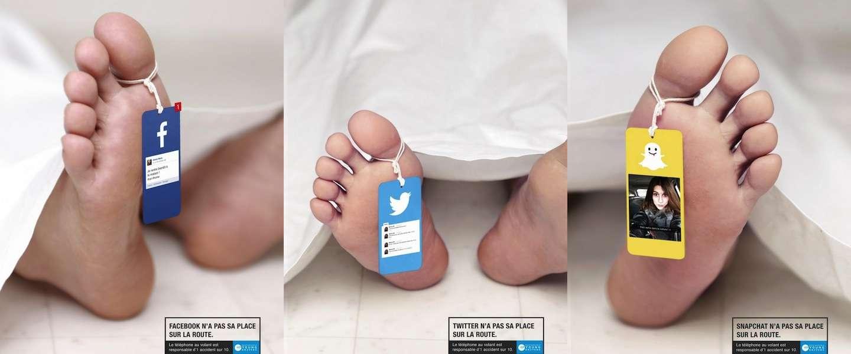 Keiharde campagne tegen social media achter het stuur