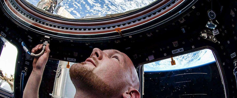 Alexander Gerst in een live Q&A op Facebook vanuit de ruimte