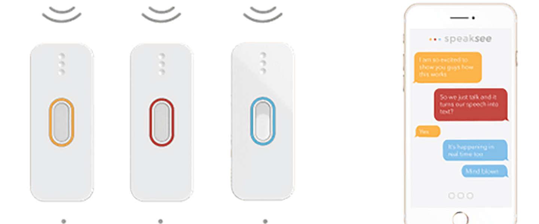 Met deze gadget kunnen dove mensen deelnemen aan gesprekken