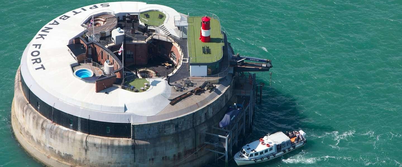 Dit militaire fort is nu omgebouwd tot een luxe hotel