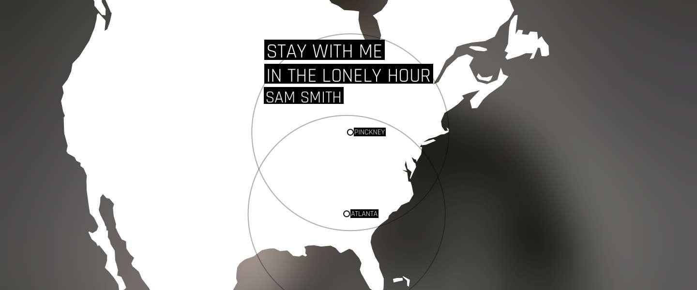 Spotify's 'Serendipity' toont nu een map van mensen die tegelijkertijd hetzelfde nummer aan het luisteren zijn