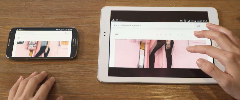 Superscreen: 10 inch tablet-display bestuurd door je telefoon