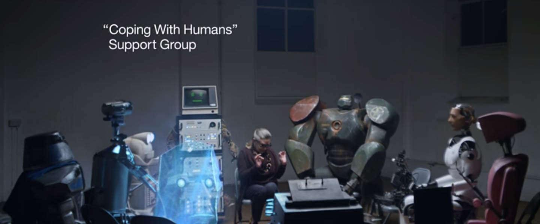 Viral video: Een robot support groep met Watson