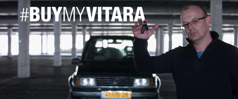 Viral video: man verkoopt Vitara uit '96 op spectaculaire wijze